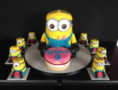 This was a very special commission !!  It's my Grandson, Patrick's birthday today  All his guests are going to get a Mini Minion home with them Happy birthday Patrick XO