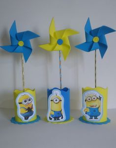 Minion Theme, Minion Birthday, Boy Birthday Parties, Birthday Party Decorations, 2nd Birthday, Birthday Ideas, Minion Centerpieces, Minion Party Invitations, Despicable Me Party