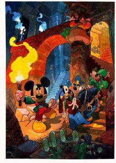 Meeting - Litografia, omaggio ai partecipanti del Meeting dei collaboratori Disney 2003 (05. 2003)