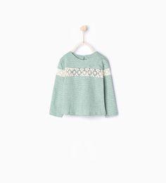 ZARA - ENFANTS - T-shirt rayé en blonde