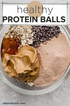 Healthy Protein Snacks, Protein Desserts, Protein Bites, Healthy Sweets, Healthy Baking, Healthy Snack Recipes, Healthy Chocolate Desserts, Cooking Recipes, Healthy Sweet Treats