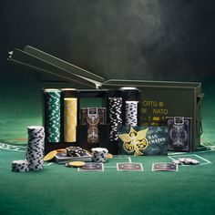 We set out to build the most functional and beautiful poker set in the world, determined to improve on what seems to be the only poker set design in existence.