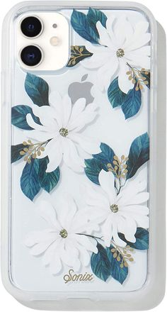 Sonix Delilah Flower Case for iPhone 11 [Military Drop Test Certified] Women's Protective White Floral Clear Case for Apple iPhone XR, iPhone 11 Girly Phone Cases, Pretty Iphone Cases, Diy Phone Case, Iphone Phone Cases, Iphone Case Covers, Iphone 11, Telefon Apple, Apple Iphone, Tumblr Phone Case