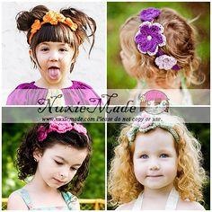 Create Your Stretchy Flower Headband-nuxiemade, crochet, flowers, headband, accessory, girl