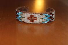 bracelet en perles tissées à la main, ethnique : Bracelet par isabond007