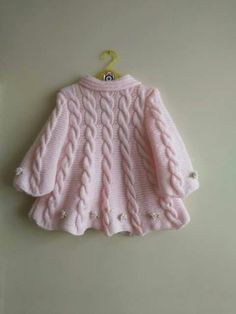 Baby Knitting Patterns For Kids Baby Knitting Patterns, Shrug Knitting Pattern, Knitting For Kids, Knitting Designs, Hand Knitting, Baby Patterns, Cardigan Pattern, Double Knitting, Crochet Patterns