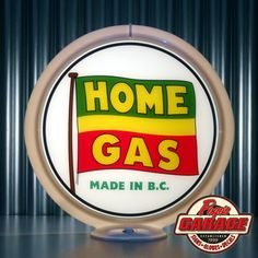 "HOME OIL of British Columbia - 13.5"" Gas Pump Globe -  Made by Pogo's Garage"