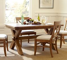 DIY Pottery Barn Inspired Farmhouse Table Kitchen Table - Pottery barn trestle dining table