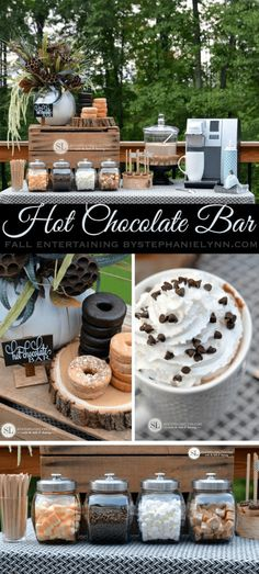 This hot chocolate bar would be so fun for a bridal shower brunch! – Courtney Garrison This hot chocolate bar would be so fun for a bridal shower brunch! This hot chocolate bar would be so fun for a bridal shower brunch! Party Platters, Fingers Food, Chocolate Caliente, Hot Chocolate Bars, Hot Chocolate Bar Wedding, Chocolate Milkshake, Chocolate Food, Chocolate Recipes, Milkshake Bar