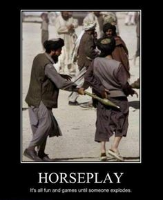 Horse Play Motivational Poster