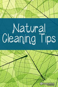 """Here are a few fun natural cleaning tips from my eBook, """"Essential Living: Aromatherapy Recipes for Health and Home"""" for cutting boards, floors, and a deodorizing spray for trash."""