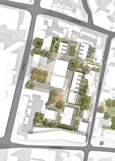 Pin by sheela alexander on architecture градостроительное пр Architecture Site Plan, Architecture Concept Diagram, Architecture Board, Urban Architecture, Architecture Drawings, Landscape Plans, Landscape Design, Site Plan Rendering, Site Plans