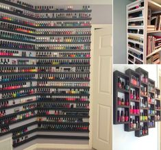 10 Cool and Clever Nail Polish Storage Ideas - http://www.amazinginteriordesign.com/10-cool-clever-nail-polish-storage-ideas/