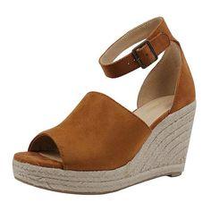 6c1c57409d6023 Women Sandals High Heels Summer Platform Wedge Heels Peep Toe Women Beach  Shoes Fashion Comfortable