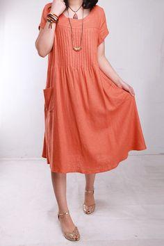 KL090D vivir mi vida Tamaño / Ropa de Mujer Plus Pequeño Maternidad Day Party Prom Vestido de tirantes ocasional hecha a mano del verano de lino elegante vestido rojo de algodón