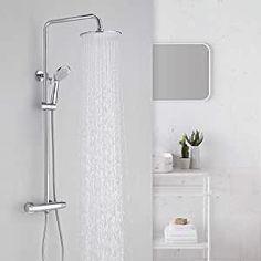 Duschset Regendusche Duschkopf Duscharmatur Duschstange Duschsystem Thermostat