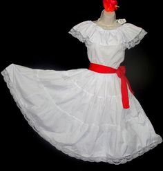 Puerto Rican Festival, Sleeveless Blouse, White Lace, Outfit Of The Day, Little Girls, Culture, My Style, Children, Skirts
