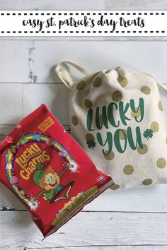 Make these darling St. Patrick's Day Bags in less than 5 minutes with the step by step tutorial from Everyday Party Magazine #StPatricksDay #CricutMade #Irish #LuckyYou @Cricut