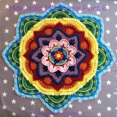 Pt 6 Mandala Madness CAL 2016 by Crystals and Crochet aka Helen Shrimpton, PDF photo tutorial download here http://www.crystalsandcrochet.com/mandala-madness-part-6/