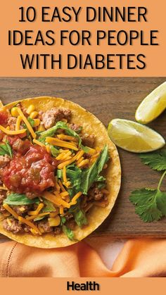 The best recipes for people with diabetes can be suprisingly tasty. These suprisingly delicious recipes for diabetes patients are easy to make for your next meal. These easy recipes for people with diabetes will get you excited to make the best recip Diabetic Food List, Diabetic Recipes For Dinner, Healthy Recipes For Diabetics, Diabetic Meal Plan, Diet Food List, Easy Dinner Recipes, Diet Recipes, Easy Meals, Cooking Recipes