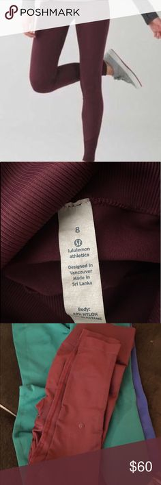 Lululemon Zone In Tight Size 8 like tag shows, runs more like a size 6. Zone in tight are compression legging and most people will size up on these. lululemon athletica Pants Leggings