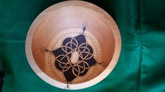 Celtic Compass Rose Pyrography Decorated Beech Bowl | FireOakStudio - Woodworking on ArtFire