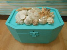 Beach Decor Seashell Jewelry Box  Shell Box  by LiveCoastal, $42.00