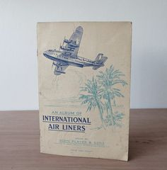 Vintage Album of International Air Liners - Vintage Cigarette Cards - John Players Cards - Air Liners - Smoking - Tobacco