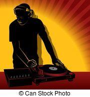 DJ action - Coloured illustration