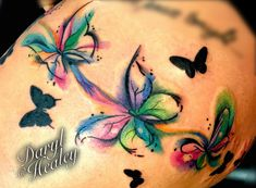 Water colour style abstract butterflies I did. #tattoo #butterfly #watercolour