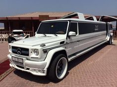 The worlds only Mercedes G66 limousine being unveiled today by Excellence Limo only at #BBTPREvent #BigEvent #BigBoysToys_UAE https://twitter.com/BigBoysToys_UAE
