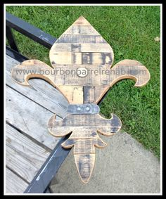 Fleur de lis made from authentic used bourbon barrel staves and hoops. Various shapes available in multiple sizes. Bourbon Barrel, Bottle Opener, Kentucky, Shapes, How To Make, Products, Bottle Openers, Gadget