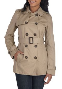 Classic and Chic Trench in Khaki, #ModCloth