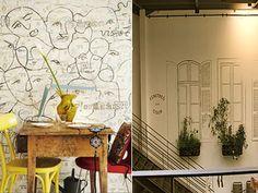 Η εντυπωσιακή διακόσμηση στις κάθετες επιφάνειες του σπιτιού είναι θέμα... τοίχου και σίγουρα όχι τύχης! Πάρτε ιδέες και -με ελάχιστο κόστος- δώστε νέο αέρα στο σπίτι σας. Cafe Bar, Restaurant Bar, Home Decor, Colors, Decoration Home, Room Decor, Home Interior Design, Home Decoration, Interior Design