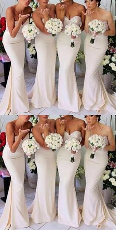 On Sale Soft Sexy Bridesmaid Dress Sexy Sleeveless Mermaid Sweet White Long Sequins Popular Bridesmaid Dresses,Bridesmaid Gown Affordable Prom Dresses, Unique Prom Dresses, Sexy Wedding Dresses, Perfect Wedding Dress, Sexy Dresses, Modest Wedding, Cheap Dresses, Bridal Dresses, Wedding Gowns