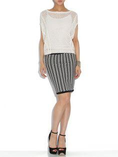 Theonne - silk blend stretch knit tight skirt