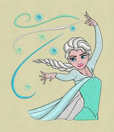 embroidery design frozen pes jef hus dst by ViolaFashion on Etsy