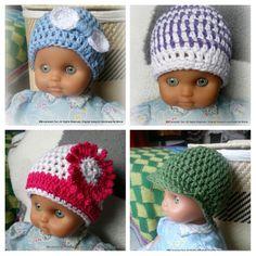 newborn baby hats Vastasyntyneen vayvan pipoja Crochet hat's https://www.facebook.com/Handmade-By-Minna-918765948170281/?ref=aymt_homepage_panel