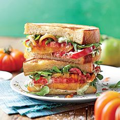 Over-the-Top Tomato Sandwich | heirloom  beefstake, Fabulous, June,  Sothern Living 2014
