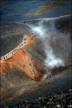 Mount Etna - largest active volcano in Europe