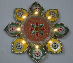 Acrylic Rangoli Designs, Patterns for Diwali