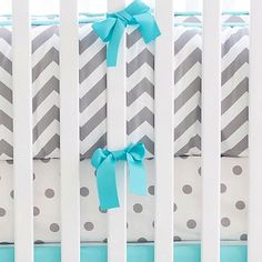 Chevron and Aqua Chevron Crib Bedding, Chevron Baby Bedding, Chevron Crib Bedding