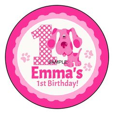 Blues Clues MAGENTA Personalized Party Favor Labels Stickers 1.5, 2.5, 3.3    #Custom #Birthdaychild