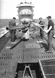 Gun deck on a u-boat