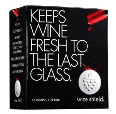 Wine Shield, Ultimate Preserver Keeps Wine Fresh to the Last Glass, Pack of 10 by Wine Preserva. $11.99. Takes 5 seconds or less to deploy, and does not contaminate wine. Completely safe BPA-free and made from FDA-approved, food contact-safe material).. Quick to deploy and easy to use because there's no gas or vacuum pump involved. Great for wine drinkers at home who open bottles but don't consume the entire contents immediately.. Floats on the surface of the wine -...