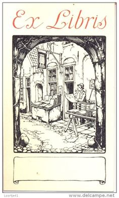 Anton Pieck (Netherlands, 1895-1987)  ~ ex libris ~ Anton Franciscus Pieck was a Dutch painter, artist and graphic artist. His works are noted for their nostalgic or fairy tale-like character and are widely popular, appearing regularly on cards and calendars.