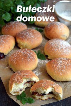 Pyszne słodkie bułeczki z powidłami Crescent Rolls, Hamburger, Recipies, Food And Drink, Sweets, Baking, Breads, Wordpress, Cats