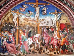 Chiesa di S. Antonio Abate Crocifissione di Nicola da Siena - Nella chiesa di S. Antonio che fa parte del circuito museale urbano di Cascia ricca di opere d'arte medievali sulla passione di Cristo di Nicola da Siena