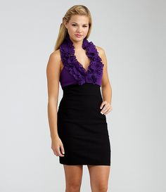 B. Darlin Ruffle Halter Dress | Dillards.com