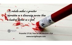 A rebuke impresses a man of discernment more than a hundred lashes a fool. Proverbs 17:10 Start The Day, Verse Of The Day, The Fool, Proverbs, Lashes, Words, Life, Eyelashes, Horse
